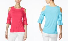 INC International Concepts Ruffled Off-The-Shoulder Top, Only at Macy's - Limited-Time Specials - Women - Macy's