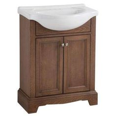 Valencia 26.38 in. W x 17.5 in. D Vanity in Butterscotch with Porcelain Vanity Top in White with White Basin
