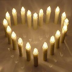 20stk LED Kerzen [Upgrade Version 2015 mit Timer, Fernbedienung und Batterien] Wasserdichte Dimmbar Kerzenlichter Flammenlose Weihnachtskerzen Lichterkette für Weihnachtsbaum, Weihnachtsdeko, Hochzeit, Geburtstags, Party Koopower http://www.amazon.de/dp/B014PFQ752/ref=cm_sw_r_pi_dp_zgIqwb1ASBVP2