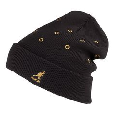 04f22358 Kangol Hats Color Eyelet Beanie Hat - Black