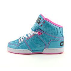 Womens Osiris NYC 83 Slim Skate Shoe Turquoise/Pink/White ($49.99)    #17holiday