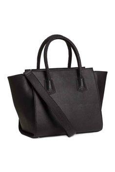 Black Braided Handbag