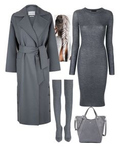 """""""Untitled #231"""" by alla-moda on Polyvore featuring Cashmere in Love, MaxMara and Halston Heritage"""