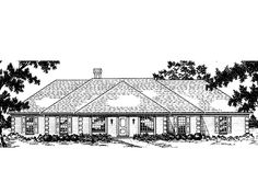 Ranch House Plan with 3231 Square Feet and 4 Bedrooms(s) from Dream Home Source | House Plan Code DHSW26245
