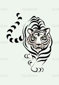 Tiger Tattoo, Silhouette Stencil, Drawings, Line Art, Art, Tattoo Stencils, Coloring Pages, Prints, Stencils