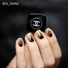 Nude-Black-Gols nails Настя @u_nona   Websta (Webstagram)
