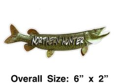 Northern Hunter Pike Fishing Vinyl Decal Sticker Pole Tackle Box Boat Case | eBay Vinyl Decals, Sticker, Pike Fishing, Tackle Box, Boat, Dinghy, Decals, Boating, Decal