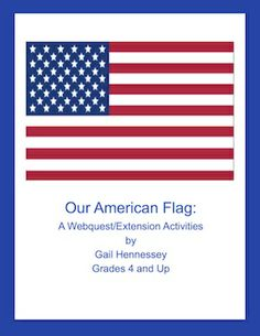 Great for Memorial Day week or Flag Day. Use Our American Flag webquest of 12 informative questions to learn about Flag Day,Fourth of July and flag history. Extension activities and fun facts included. http://www.teacherspayteachers.com/Product/Our-American-Flag-A-Webquest-Extension-Activities-726295 $3.00