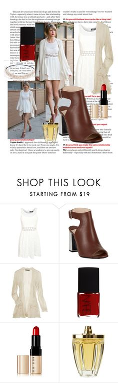 """""""GET THE LOOK: TAYLOR SWIFT"""" by thequeenbabygirl on Polyvore featuring Belli, Pilot, Prada, ban.do, Anna Molinari, NARS Cosmetics and Bobbi Brown Cosmetics"""