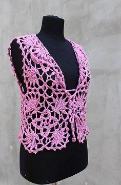 Ravelry: Rose bolero with Lace square pattern by Viktoriya Isakina