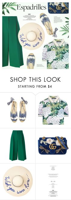 """""""Step into Summer: Espadrilles"""" by redflowergirl ❤ liked on Polyvore featuring Soludos, Dolce&Gabbana, Valentino, Gucci, Eugenia Kim, StyleNanda and espadrilles"""