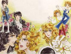 Versailles No Bara by Ryoko Ikeda Illustration Manga, Illustrations, Old Anime, Manga Anime, Lady Oscar, Anime Stars, Bastille Day, Animation, Shoujo