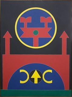 Rubem Valentim. Emblema 87 - acrílico sobre tela (1987). 100x73 cm