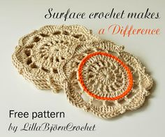 Surface Crochet Makes a Difference | LillaBjörn's Crochet World