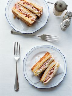 smoked ham and cheese toasties. This would be perfect for breakfast, lunch or dinner this weekend. Ham And Cheese Toastie, Cheese Toasties, My Favorite Food, Favorite Recipes, Donna Hay Recipes, Aussie Food, Smoked Ham, Sandwiches, Dessert