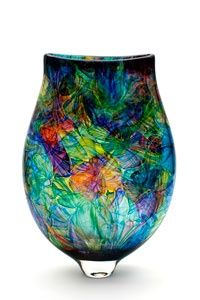 bob crooks glass art | Bob Crooks Multi Flower Vase Woah!