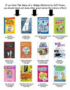 "Our new ""Diary of a Wimpy Kid"" read-a-like chart!"