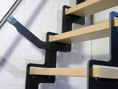 ZIP UP - Verschuifbare trapladder Loft Staircase, Stair Railing, Railings, Open Trap, Escalier Design, Interior Design Living Room, Home Projects, Tiny House, New Homes