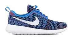 $120 - Nike Womens Wmns Roshe One Flyknit Photo Blue/White-Red Mesh Size 5 #shoes #nike