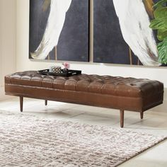 Wells Tufted Bench
