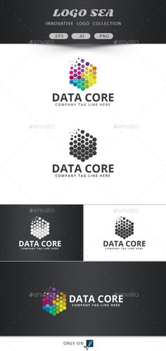 Data Core Logo Design Template Vector #logotype Download it here: http://graphicriver.net/item/data-core-logo/10271291?s_rank=1564?ref=nexion