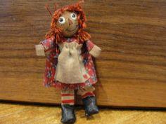 "Carol Spence - 2 1/2"" Raggedy Ann doll; sold on ebay for $32.52"