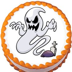 Graveyard Ghost Halloween Edible Cake Topper | My Party Helpers | http://mypartyhelpers.com/products/graveyard-ghost-halloween-edible-cake-topper