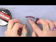 ▶ Beadschool Tutorial - Techniques: Herringbone Stitch from a Ladder Stitch start - YouTube