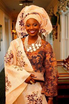 Yoruba Bride ~Latest African Fashion, African Prints, African fashion styles, African clothing, Nigerian style, Ghanaian fashion, African women dresses, African Bags, African shoes, Nigerian fashion, Ankara, Kitenge, Aso okè, Kenté, brocade. ~DKK: