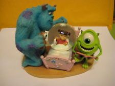 Collectible Disney Pixar Monsters Inc Snowglobe Mike Sully Boo with Original Tag