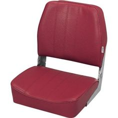 Wise Standard Low Back Boat Seat, Red