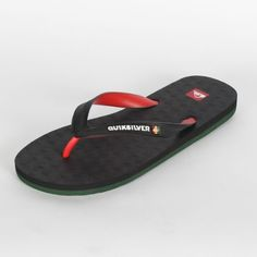 Quiksilver - Mens Compound Sandals in Black/Red Quiksilver. $17.95