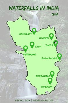Places to visit in India: Waterfalls in Goa – Map   Pedal Goa