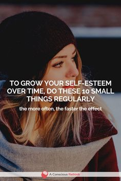 If your self-esteem isn& quite where you want it to be, here are 10 things that you can do to grow it slowly by surely. If your self-esteem isnt quite where you want it to be, here are 10 things that you can do to grow it slowly by surely. Positive Self Esteem, Low Self Esteem, Self Esteem Activities, Building Self Esteem, Confidence Building, Self Confidence Tips, Self Esteem Quotes, Self Esteem Books, Positive Mindset