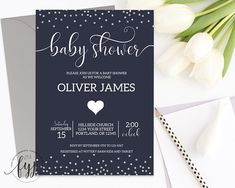 Baby Boy Shower Invi