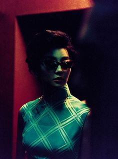 Maggie Cheung in 'In the Mood for Love'. Fantastic colours in this film...