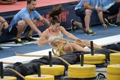 """""""I keep telling myself when I work out, 'No regrets ... play your game hard and just be proud.'""""  —Camille Leblanc-Bazinet  Leblanc-Bazinet holds a 75-point lead going into the final day of competition at the 2014 Reebok CrossFit Games."""