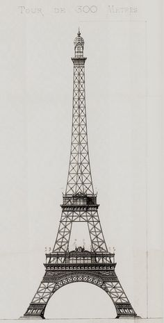 Entwurf Eiffelturm - Stephan Sauvestre (1887) - Torre Eiffel - Wikipedia, la enciclopedia libre