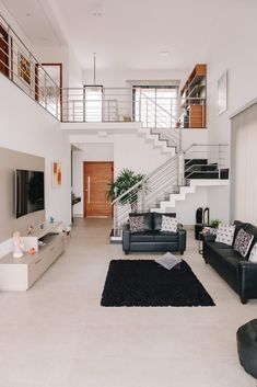 Minimal House Design, Modern Small House Design, Small House Interior Design, Modern Exterior House Designs, Home Stairs Design, Home Building Design, Dream Home Design, Small House Interiors, Small Modern Home