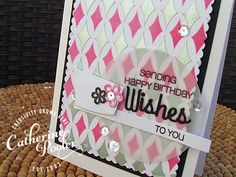 Mixed Stenciling Tutorial by Catherine Pooler using her Stamp of Approval Young at Heart kit
