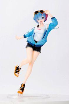 2021-07-Re:Zero PVC Statue Rem Sporty Summer 23 cm – Geeky AF Good Smile, Happy Smile, Re Zero Rem, Japanese Market, Smart Art, Free Anime, Light Novel, The Magicians, Action Figures