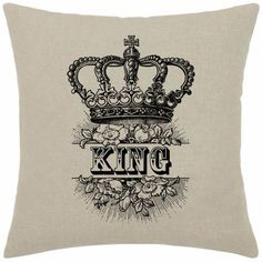 King Crown Royalty Roses pillow case King by DownloadInspiration
