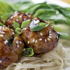 Homemade teriyaki sauce on turkey meatballs, eh? Sounds slightly strange but I promise it's delicious, easy to make and healthier than a lot of teriyaki slathered options out there. Beef Recipes, Cooking Recipes, Healthy Recipes, Whole30 Recipes, Protein Recipes, What's Cooking, Rice Recipes, Yummy Recipes, Chicken Recipes