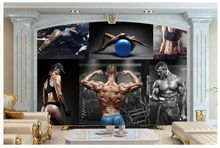 3d wallpaper custom 3d murals wallpaper Beautiful Gym guy high-definition fitness photo background wall 3d bedroom wall decor //Price: $US $15.36 & FREE Shipping //     #festive #party #birthdayparty #christmas #wedding decoration #event
