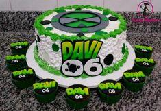 10 Birthday Cake, 10th Birthday Parties, Baby Boy Birthday, Bolo Do Ben 10, Ben 10 Cake, Ben 10 Party, Party Cakes, Cake Designs, Cake Decorating