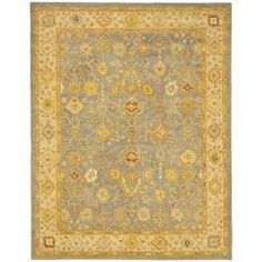 @Overstock - An ancient pot-dying technique and dense, thick pile highlight this hand-spun Mahal rug. This area rug has a slate blue background and an ivory border and displays stunning panel colors of gold, rust, ivory and grey.http://www.overstock.com/Home-Garden/Handmade-Oushak-Slate-Blue-Ivory-Wool-Rug-76-x-96/5482508/product.html?CID=214117 $361.99