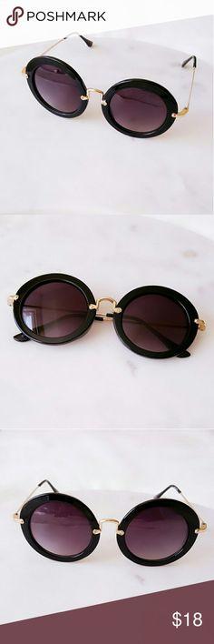 Round Fashion Sunglasses Brand New  Fashion Sunglasses  One Size UV 400 Protection Accessories Sunglasses