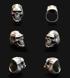 Rakuten: Dual Flow (silver accessories / シルバーアクセ / silver / silver 925/Silver925/ silver / dual Flo / ring / ring / men / Lady's / unisex / try Baru / scull / scull ring /))- Shopping Japanese products from Japan