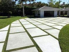 Top 50 Best Concrete Driveway Ideas - Front Yard Exterior Designs From simplistic entrances to high-end mansion constructions, discover the top 50 best concrete driveway ideas. Modern Driveway, Driveway Design, Driveway Landscaping, Yard Design, Modern Landscaping, Driveway Ideas, Walkway Designs, Landscaping Ideas, House Design