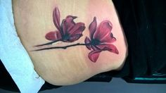 Watercolor X-ray magnolias. My sister's first tattoo. Welcome to the ink club!